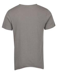 Sivé tričko s krátkym rukávom Jack & Jones Hem