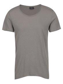 Šedé tričko s krátkým rukávem Jack & Jones Hem