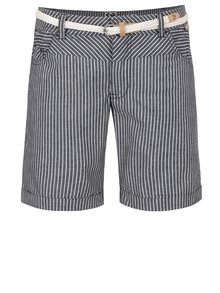 Pantaloni scurți gri închis Ragwear Sandra A cu model în dungi și curea subțire