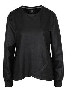 Bluză neagră cu model suprapus ONLY Anemone
