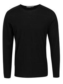 Čierne tričko s dlhým rukávom Jack & Jones Premium Jamie