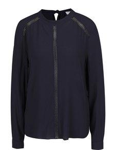 Bluză bleumarin VILA Lindy cu panglică la spate
