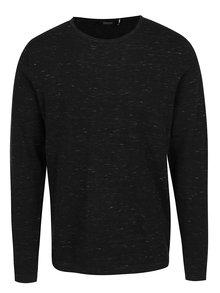 Čierny melírovaný sveter Jack & Jones Mikey