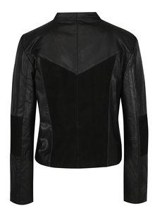 Čierna kožená bunda VILA Susan