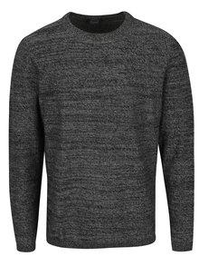 Tmavosivý melírovaný sveter Jack & Jones Blend