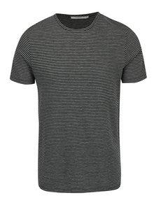Šedo-zelené pruhované tričko Jack & Jones Premium Addy
