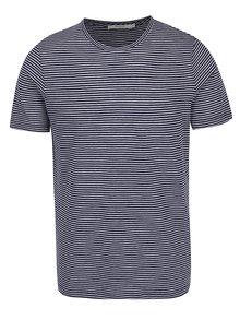 Tmavomodré pruhované tričko Jack & Jones Premium Addy