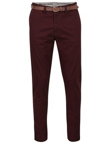 Pantaloni chino roșu burgundy Jack & Jones Cody
