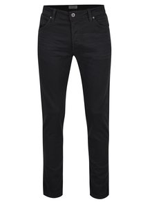 Blugi slim fit negri Jack & Jones Glenn