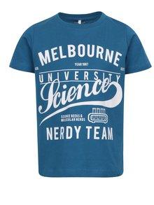 Modré chlapčenské tričko s potlačou Name it Victorian