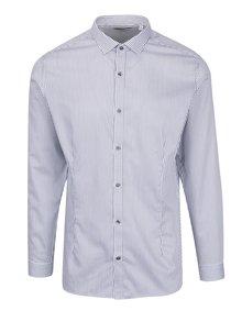 Bílá formální pruhovaná super slim fit košile Jack & Jones Premium Parma