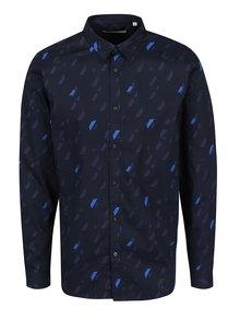 Cămașă bleumarin cu print grafic Jack & Jones Premium Geometric Rain