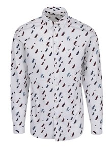 Cămașă albă cu print grafic Jack & Jones Premium Geometric Rain
