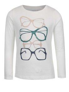 Krémové dievčenské tričko s potlačou name it Veenibi