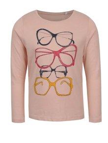 Svetloružové dievčenské tričko s potlačou name it Veenibi