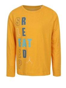 Žlté chlapčenské tričko s dlhým rukávom Name it Victorian