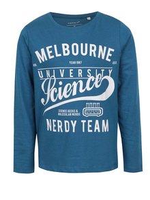 Modré chlapčenské tričko s dlhým rukávom Name it Victorian