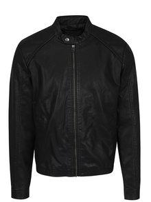 Černá koženková bunda Jack & Jones Originals
