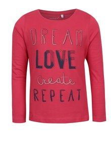 Ružové dievčenské tričko s dlhým rukávom name it Veenibi