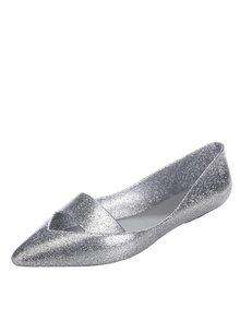 Třpytivé baleríny ve stříbrné barvě Melissa Maisie