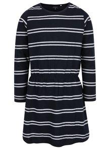 Modré pruhované dievčenské šaty name it Velvet