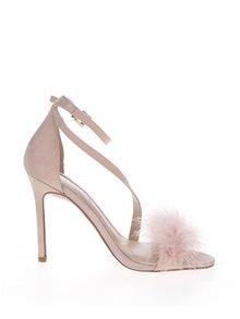 Ružové sandálky v semišovej úprave na ihlovom podpätku Miss KG Flirt