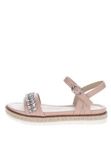 Sandale crem ALDO Kelvyna cu pietre decorative