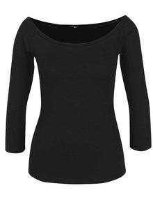 Černé tričko s lodičkovým výstřihem ZOOT