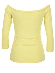 Žlté tričko s lodičkovým výstrihom ZOOT
