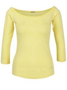 Žluté tričko s lodičkovým výstřihem ZOOT