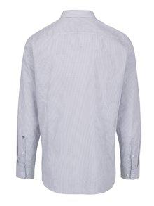 Čierno-biela formálna vzorovaná slim fit košeľa Seidensticker