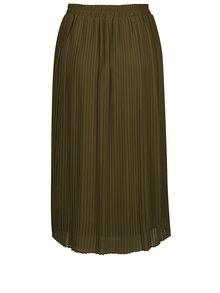 Zelená plisovaná midi sukně VERO MODA Pleta