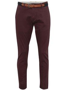 Pantaloni burgundy chino pentru bărbați - Selected Homme Yard