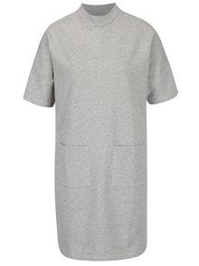Světle šedé mikinové šaty Noisy May Bass