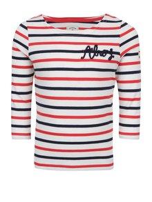 Bluză crem & albastru pentru fete Tom Joule imprimeu în dungi