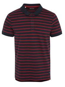 Červeno-modré pruhované polo triko Selected Homme Aro