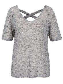 Bluză gri melanj cu bretele Vero Moda Sunshine