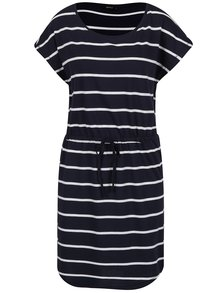 Bielo-modré pruhované šaty ONLY May