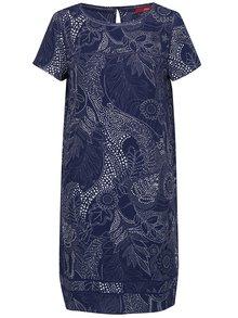Rochie albastră cu print alb s.Oliver
