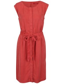 Rochie midi roșie cu nasturi s.Oliver