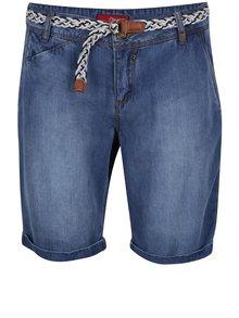 Modré dámske rifľové šortky s opaskom s.Oliver
