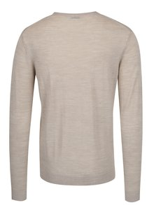 Pulover subtire bej din lana Merino - Selected Homme Tower