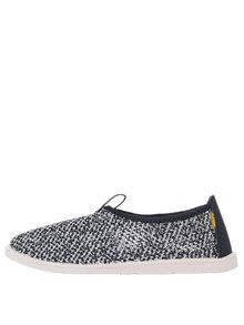 Bílo-modré unisex perforované loafers Oldcom Summer