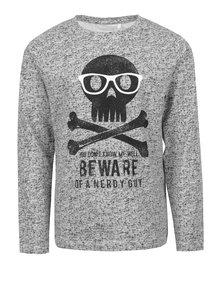 Bluză gri din bumbac organic pentru băieți - name it North