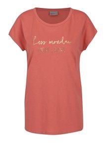 Ružové tričko s potlačou VERO MODA Nora