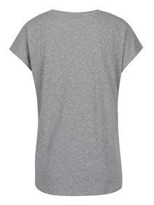 Sivé tričko s potlačou VERO MODA Nora
