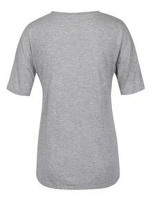 Sivé voľné tričko s vreckom Noisy May Raven