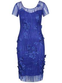 Modré květované šaty Miss Grey Fathia