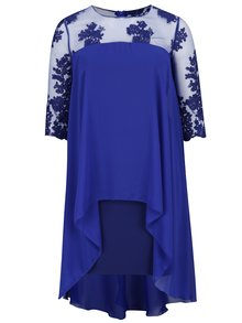 Modré plus size šaty s krajkou Miss Grey Flora