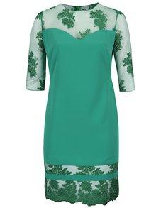 Zelené plus size šaty s 3/4 rukávem Miss Grey Gratiela